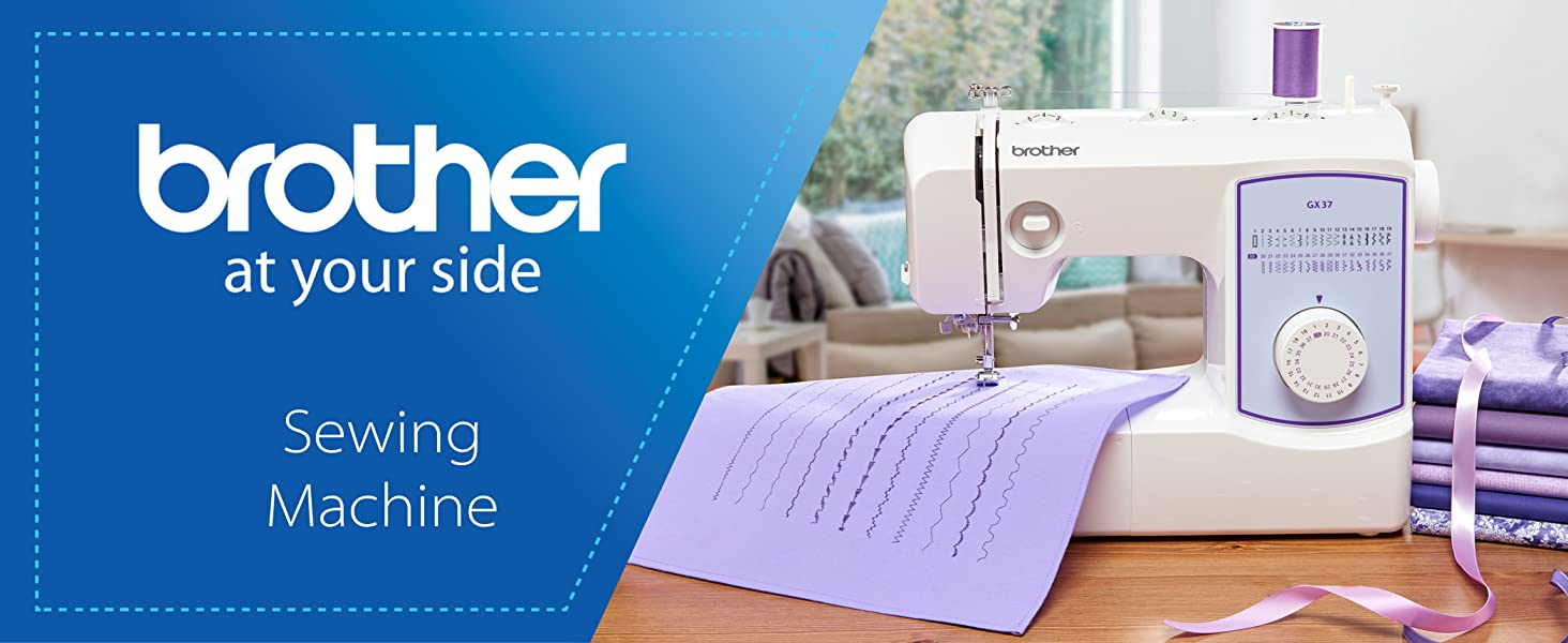 Brother Sewing Machine GX37  37 Built-in Stitches  6 Included Sewing Feet