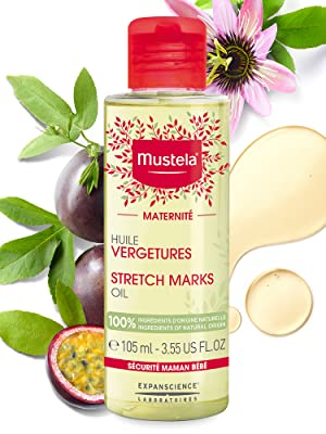 Stretch mark prevention oil increases skin hydration, and helps treat and prevent stretch marks