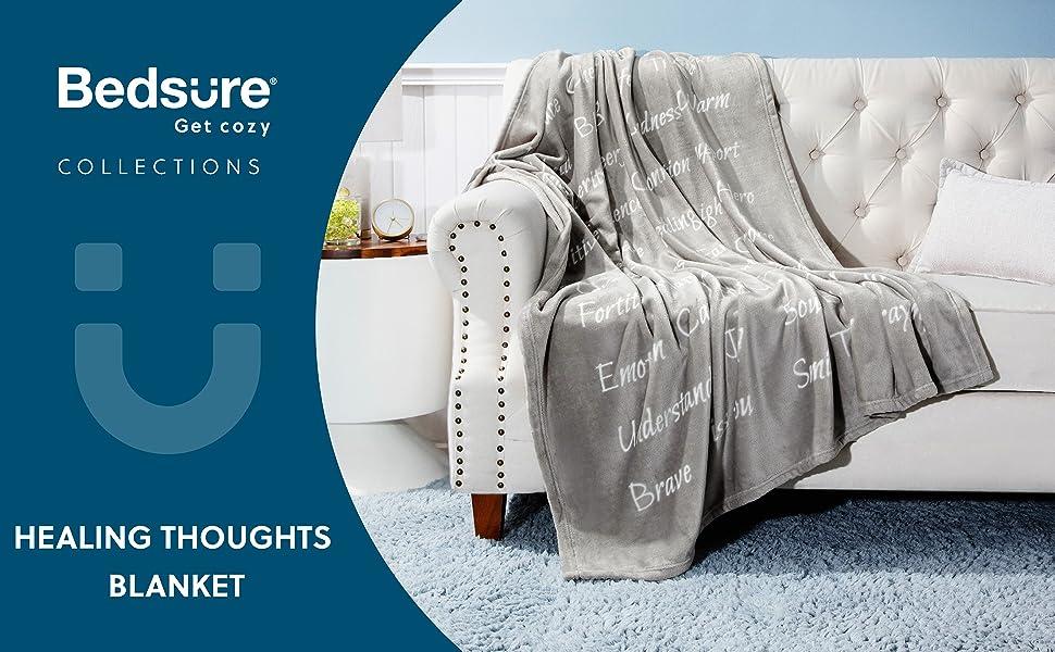Bedsure Healing Thoughts Blanket - Get Cozy