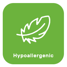 Hypoallergenic natural and gentle safe skin care products for baby skin.