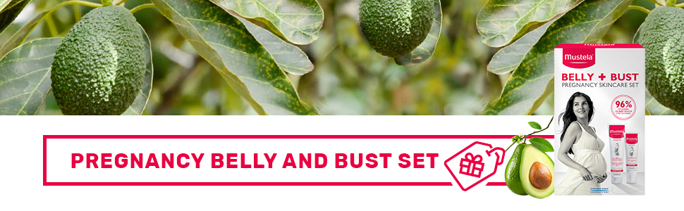 Belly and bust set firms the bust area treats and prevents stretch marks for expecting mothers gift