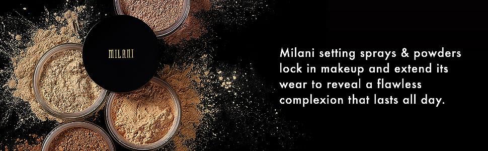 Milani setting sprays & powders