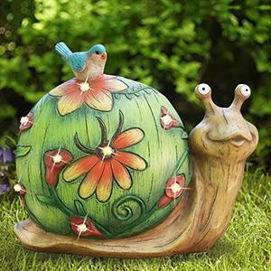 garden snail solar light
