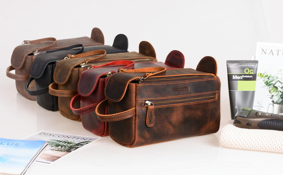 shaving leather dopp kits