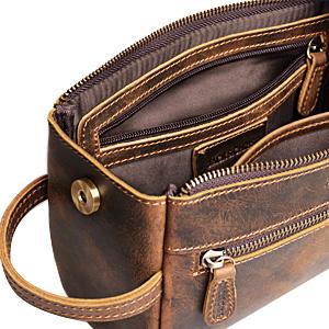 mens toiletry bag leather toiletries bag dobb kit leather travel kit