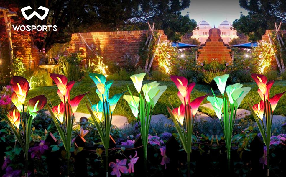 Solar flower lights outdoor