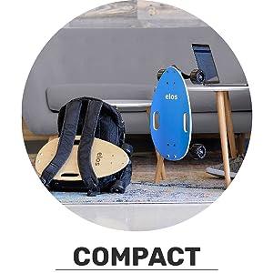 Compact. Portable. Small skateboard. Easy storage.