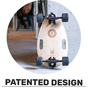 Shape and features are protected by several patents. Original design in California.