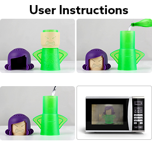Angry Mama Microwave Cleaner, Angry Mama Microwave Steam Cleaner Cleans In Minutes By AODOOR
