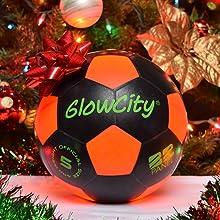 GlowCity LLC LED Light Up Black & Orange Edition Perfect Present