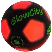 light up black soccer ball