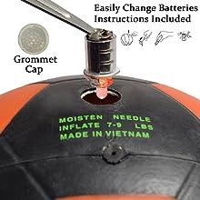 GlowCity LLC Light Up LED Black & Orange Soccer Ball Battery Change