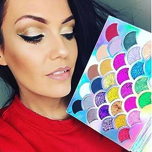 glitter eyeshadow, glitter makeup, glitter