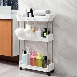slim storage tower cart slim bathroom gap storage shelving unit storage cart with wheels